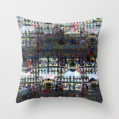 Mostly only rowable, no ignoble notions growing... Throw Pillow