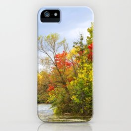 Leaning into Autumn iPhone Case
