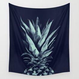 Navy Blue Pineapple Dream #1 #tropical #fruit #decor #art #society6 Wall Tapestry