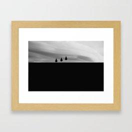 Floating Trees Framed Art Print