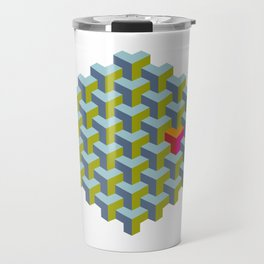 Be yourself - geomtric op art pattern Travel Mug