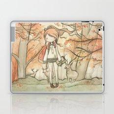 Autumn girl Laptop & iPad Skin