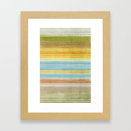 Colorbands Yellowstone Yellow Framed Art Print