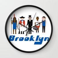 brooklyn Wall Clocks featuring Brooklyn  by harlembrooklyn