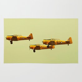 Harvard Airplanes Rug