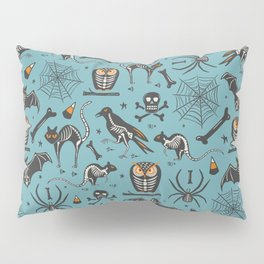Halloween X-Ray Blue Pillow Sham