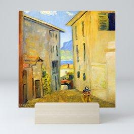 Louis Eilshemius Street in Lugano Mini Art Print