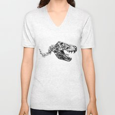 Jurassic Bloom - The Rex.  Unisex V-Neck