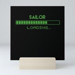 Sailor Loading Mini Art Print
