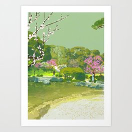 Ume Blossoms Art Print