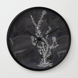 Swirls on chalkboard Wall Clock