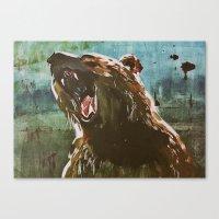 teddy bear Canvas Prints featuring TEDDY by Tina Yu