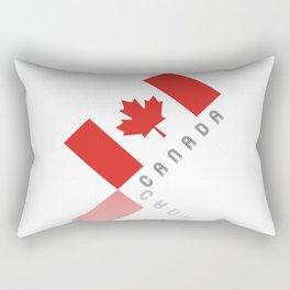 Elegant Maple Leaf Canada Rectangular Pillow