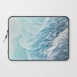 Soft Turquoise Ocean Dream Waves #1 #water #decor #art #society6 Laptop Sleeve