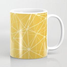 Mosaic Triangles Repeat Seamless Pattern gold Coffee Mug