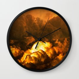 Apocalyptic Lightning and Thunder Clouds Wall Clock
