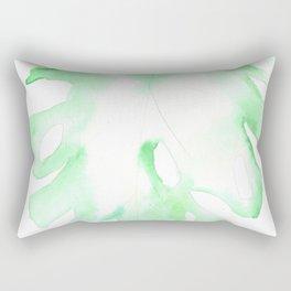 170928 Never Leaves 9 |Monstera Watercolor Art | Abstract Watercolors Rectangular Pillow