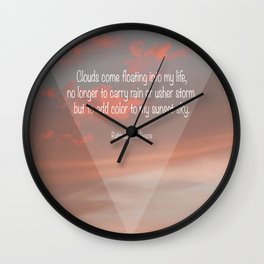 Clouds come floating... Wall Clock