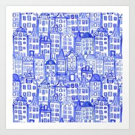 Dutch Row Houses Art Print