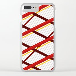 Deco Stripes Scarlet Clear iPhone Case