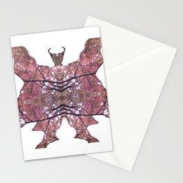 Horned Man V1 cut from Tree Leaf Photo 801 Fractal Stationery Cards