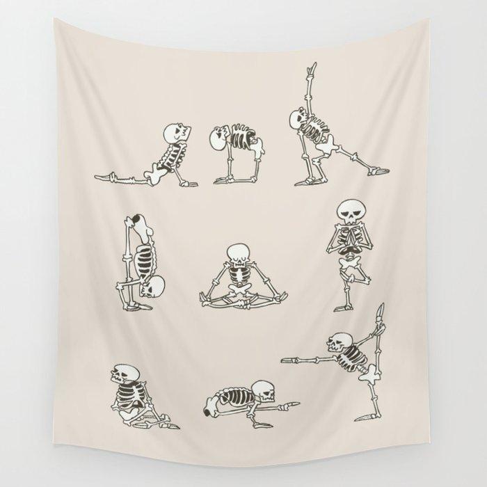 Skeleton Yoga Wall Tapestry