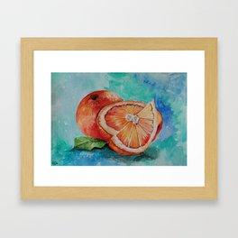 Oranges,Watercolor Painting Framed Art Print