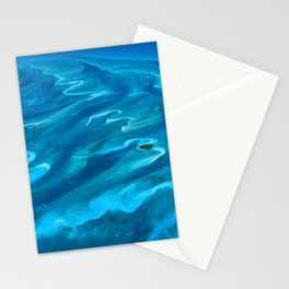 Dramatic Blue Ocean Waves Stationery Cards