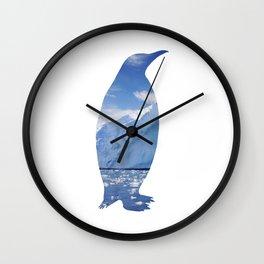 Penguin Cutout Wall Clock