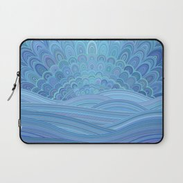 Blue Mandala Sunset at the Ocean Laptop Sleeve