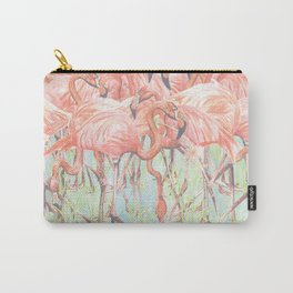 Flamingo Meadow Carry-All Pouch