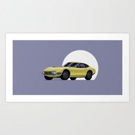 2000GT Classic Car Vector Art Art Print