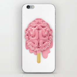 Popsicle brain melting iPhone Skin