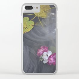 Surreal Waterflower Clear iPhone Case