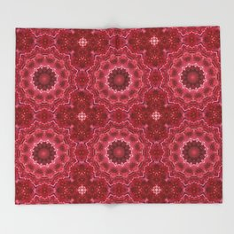 Crimson kaleidoscope.  Christmas  mandala . Throw Blanket
