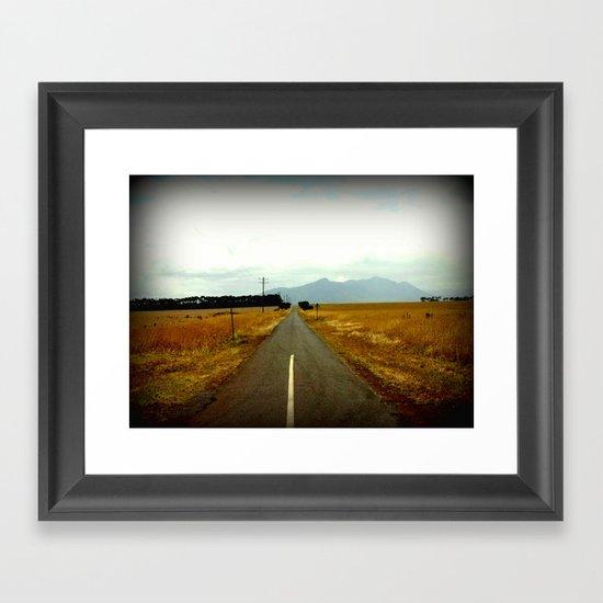 Road to Dunkeld Framed Art Print