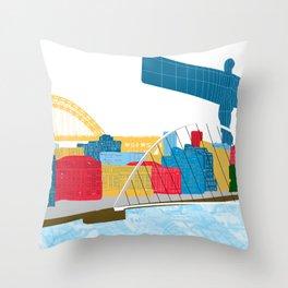 Newcastle Skyline Throw Pillow