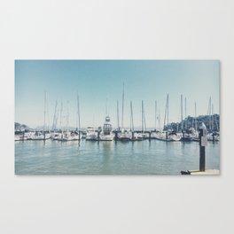 Yachts at Dock Canvas Print