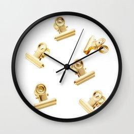 Golden Clips Wall Clock
