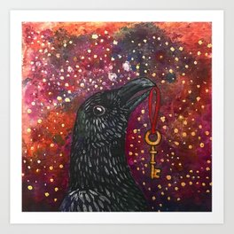 Key Crow Art Print