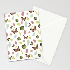 butterflies and plaid Stationery Cards