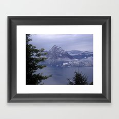 Lake Lugano Framed Art Print