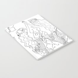 Two mermaids, many pearls Notebook