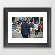 nyc modern mad men2 Framed Art Print