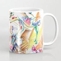 labyrinth Mugs featuring LABYRINTH by Don Giancarli