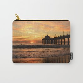 Sunset, Fishing Pier Carry-All Pouch