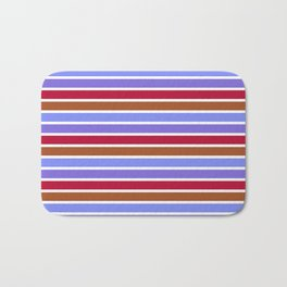 Modern violet red brown geometrical stripes pattern Bath Mat