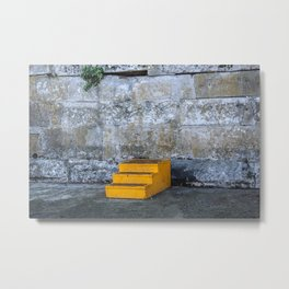 Yellow Steps Metal Print