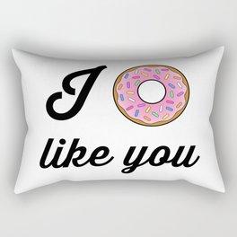 I Donut Like You Cartoon Typography Rectangular Pillow