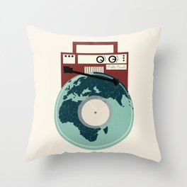 Music Will Save The World - Pablo Casals Quote Throw Pillow